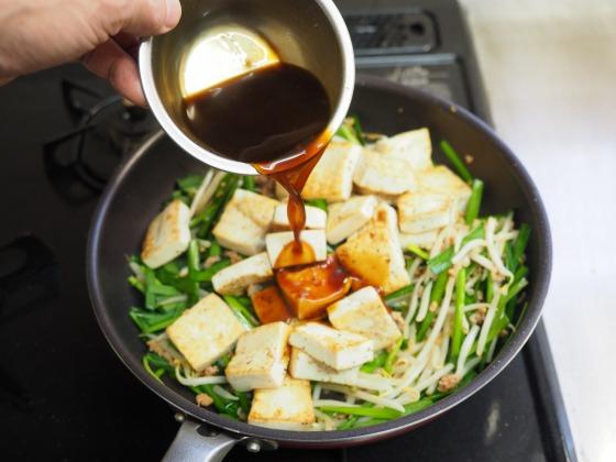 豆腐にらもやし炒め017