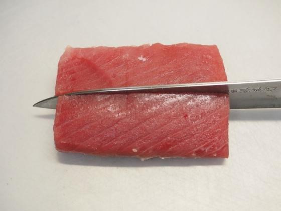 マグロ刺身の塩昆布漬け007