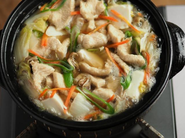 水晶鶏の白菜鍋033