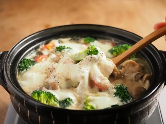鶏むね肉とブロッコリーの豆乳070