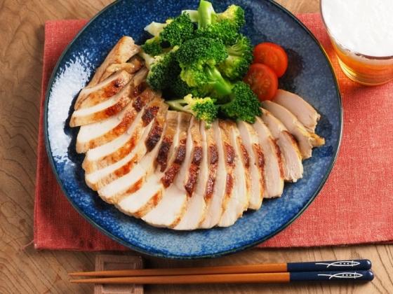 鶏むね肉のにんにくぽん酢焼き026