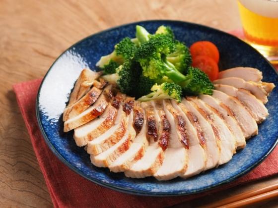 鶏むね肉のにんにくぽん酢焼き021