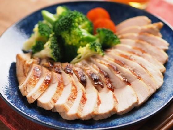 鶏むね肉のにんにくぽん酢焼き036