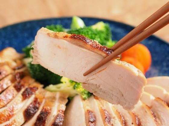 鶏むね肉のにんにくぽん酢焼き040