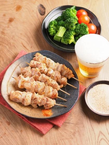 鶏もも肉のトースター焼き鳥046