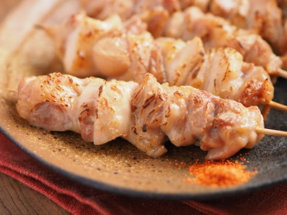 鶏もも肉のトースター焼き鳥051