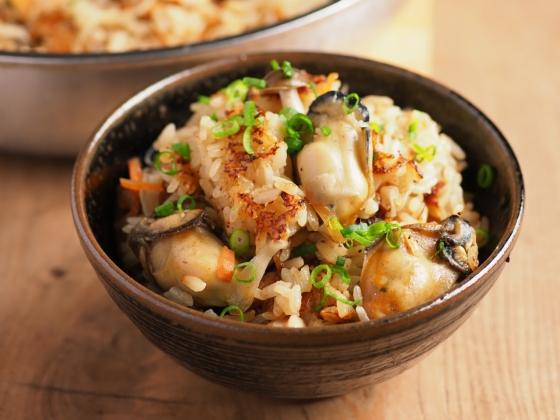 牡蠣のフライパン炊き込みご飯046
