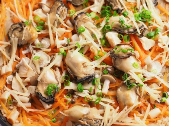 牡蠣のフライパン炊き込みご飯039
