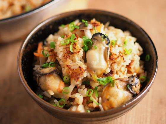 牡蠣のフライパン炊き込みご飯060