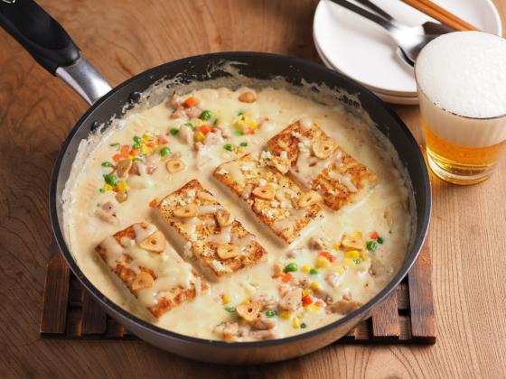 シュクメルリ風豆腐ステーキ095
