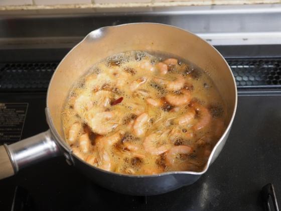 マエビ、芝エビの煮つけ013