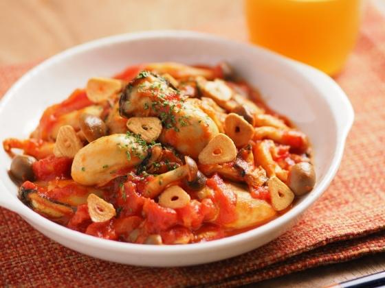 牡蠣のガーリックトマト煮079