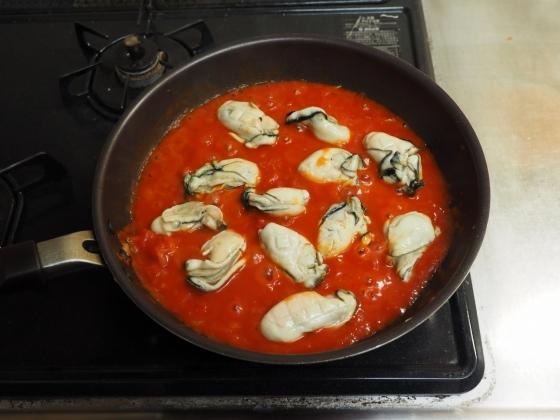 牡蠣のガーリックトマト煮037
