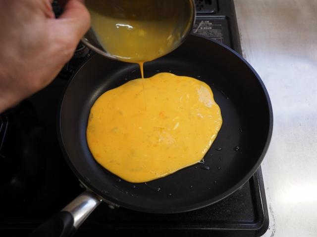 牛こま肉とブロッコリーの卵炒め006