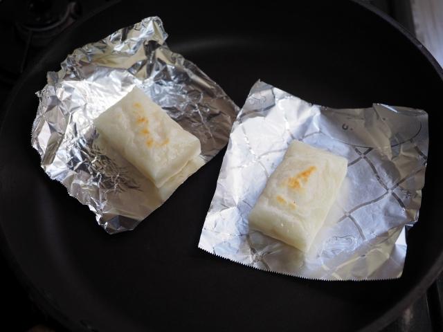 フライパンで餅の焼き方012