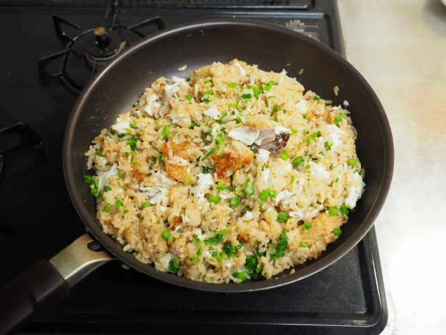 鯛と菜の花の炊き込みご飯073