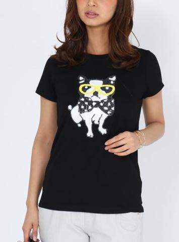 スパンコールシャツ2