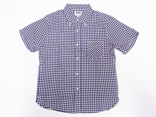 フェローズ ギンガムチェック 半袖 ボタンダウンシャツ B20S-PBDS2