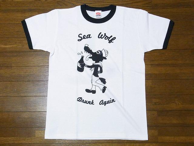 ドライボーンズ Dry Bones Tシャツ リンガー DRUNK AGAIN PT-809