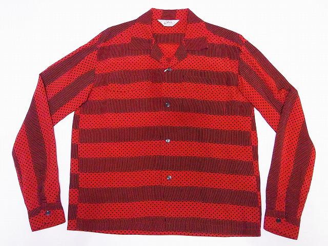 スターオブハリウッド 長袖 オープンシャツ SH28381 STRIPES