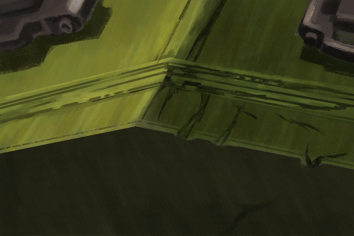 タミヤのMMシリーズの1/35のソ連 スターリン3型重戦車のボックスアートを面で塗ってスケッチ ハードライト+オーバーレイ