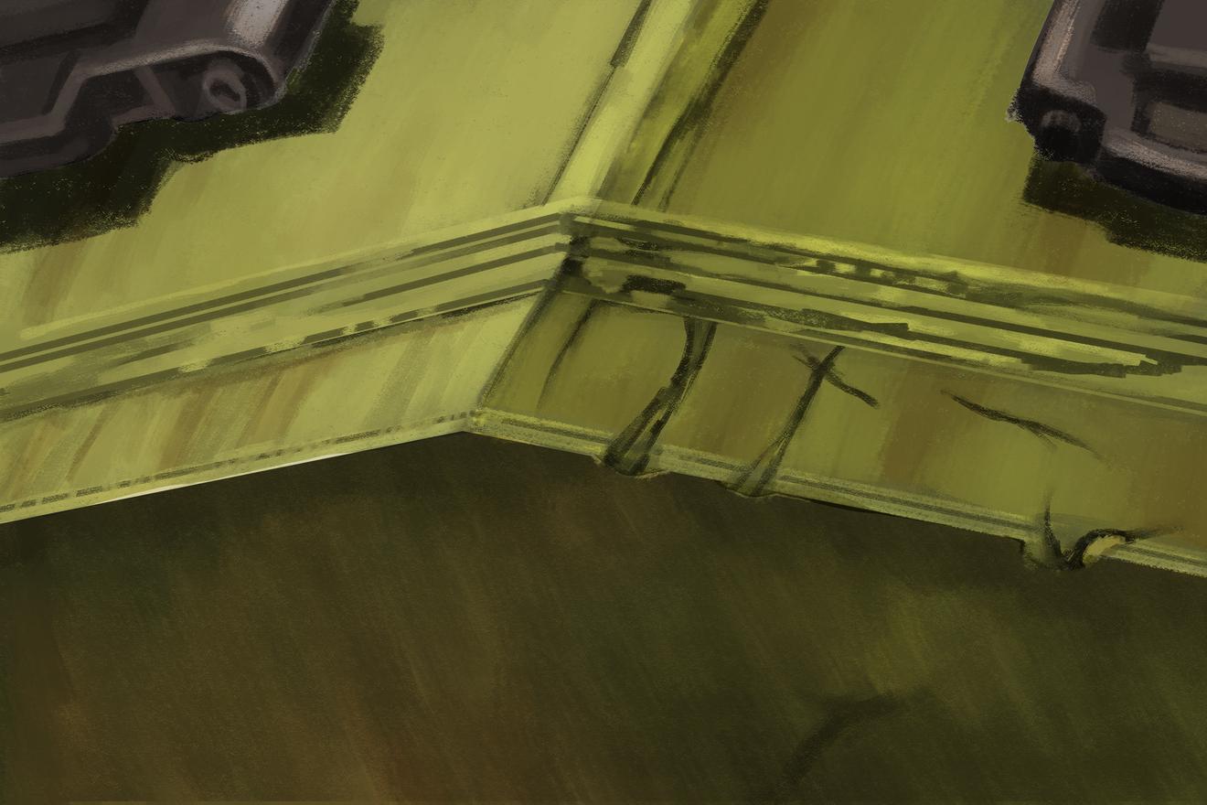 タミヤのMMシリーズの1/35のソ連 スターリン3型重戦車のボックスアートを面で塗ってスケッチ