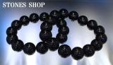天然黒水晶14mm15珠14珠