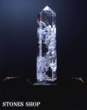 水晶六角錐柱(台付)31.6cmNo2a