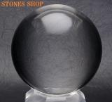 【鑑別書付MD760 】天然水晶(無垢) 丸玉62.7mm
