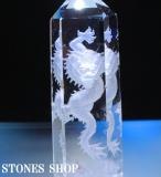 水晶ポイント龍彫り物(台付)No6