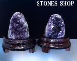 ウルグアイアメシスト原石(台付)670 g543g-1