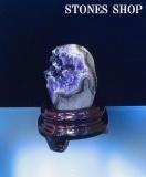ウルグアイアメシスト原石(台付)543gNo2