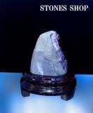 ウルグアイアメシスト原石(台付)670 gNo4