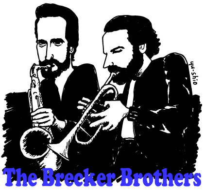 Brecker Brothers caricature likeness