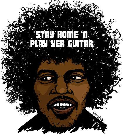 Jimi Hendrix caricature likeness