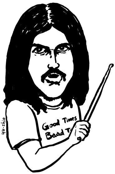 John Bonham Led Zeppelin caricature likeness