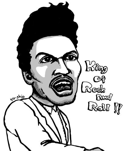 Little Richard caricature likeness