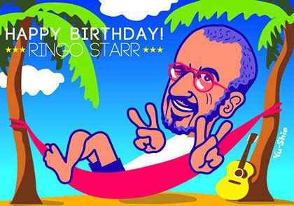 Ringo Starr caricature likeness