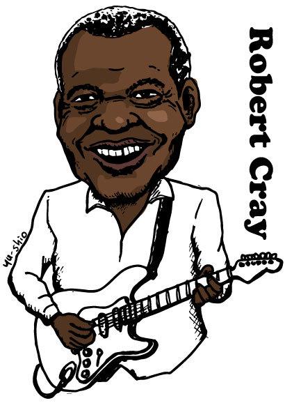 Robert Cray caricature likeness