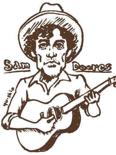 Sam Doores caricature likeness