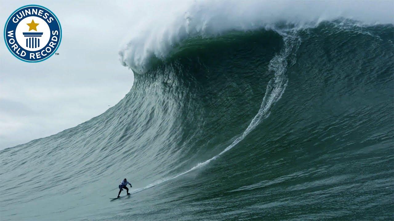 超巨大な22mの波を使ったサーフィンの迫力が凄い!!