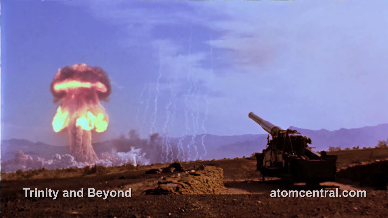 【4K】で見る、大砲から発射する核ミサイルの威力が凄まじい!!