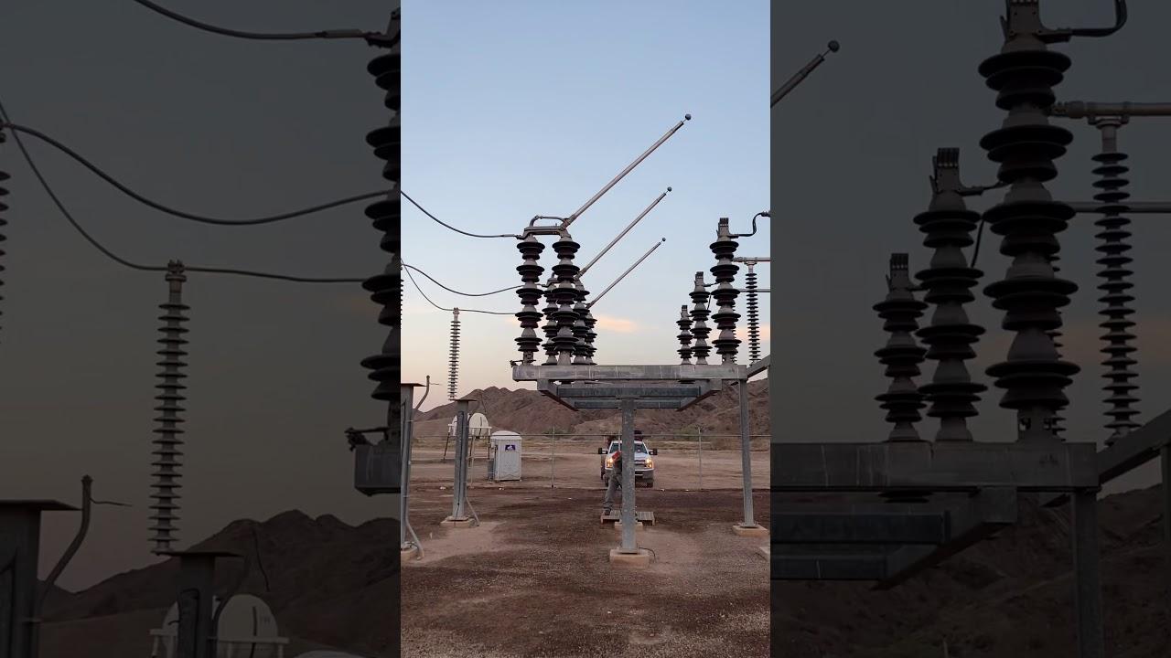 16万ボルトの電圧が流れる瞬間が凄まじい!!
