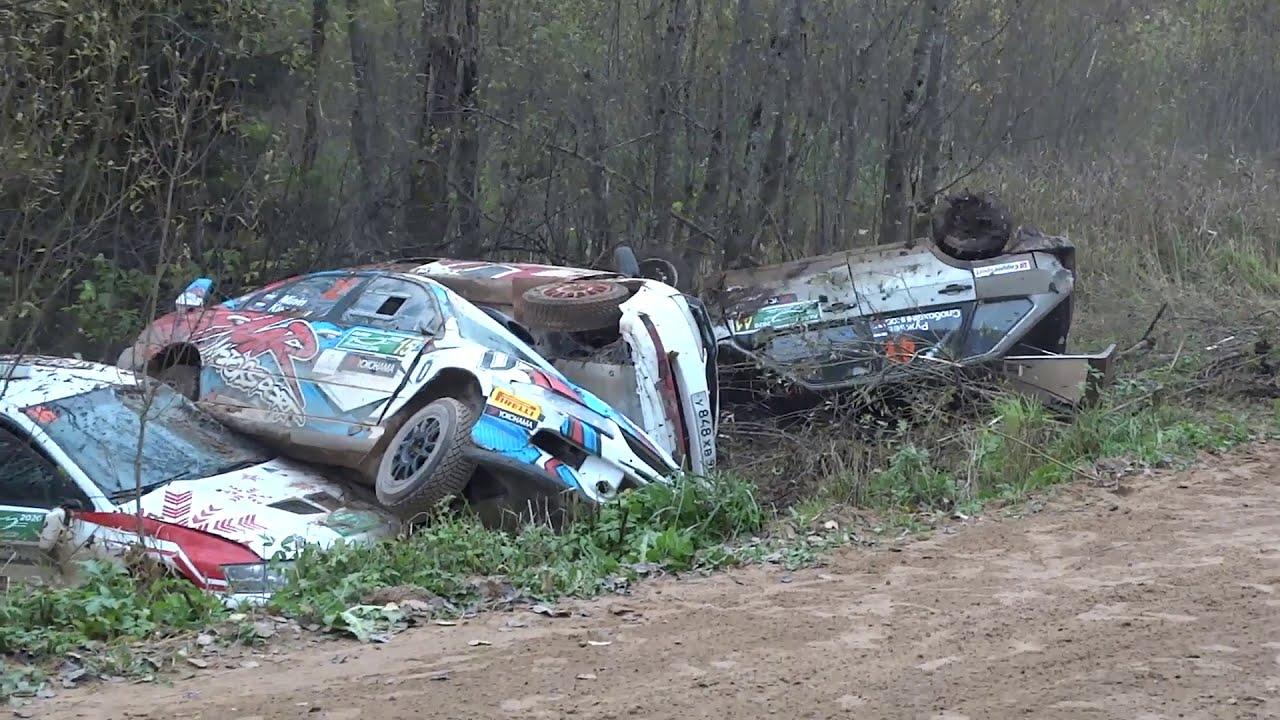ロシアのラリーカーのレースでクラッシュが多発しまくる!!