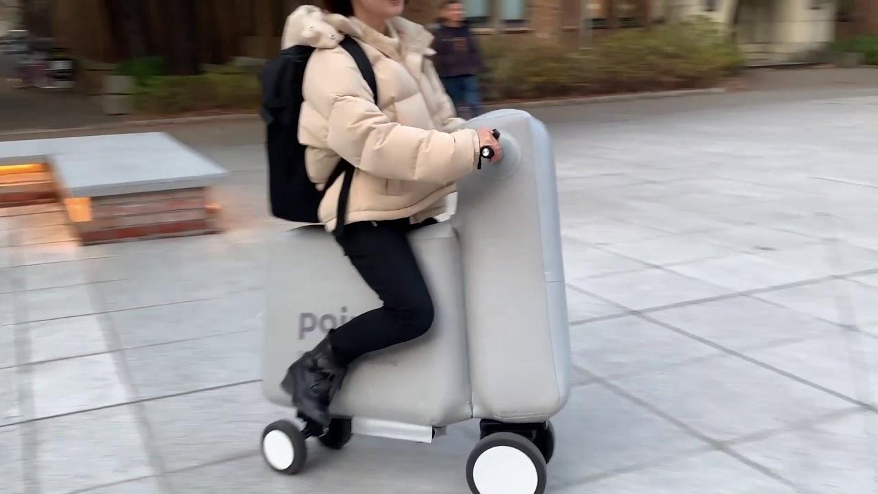 空気で膨らむ風船のような電動バイク!!