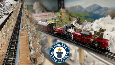 鉄道のジオラマにグラス_01