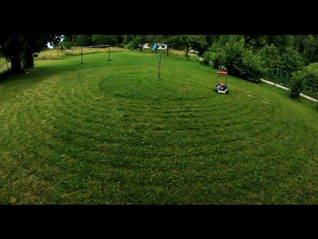 全自動で庭の草刈りができるアイデアが素敵!!
