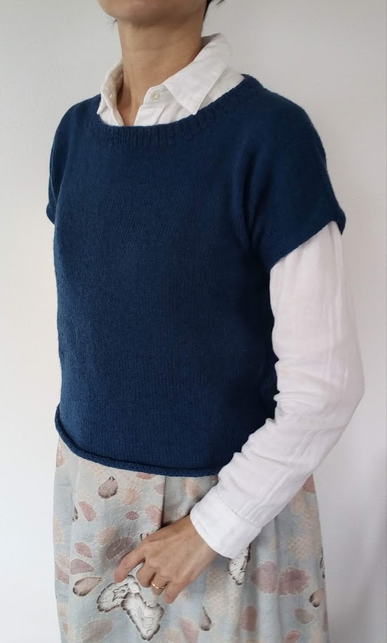 blue French sleeve