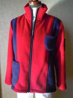 深紅の赤と紺でジャケット201218