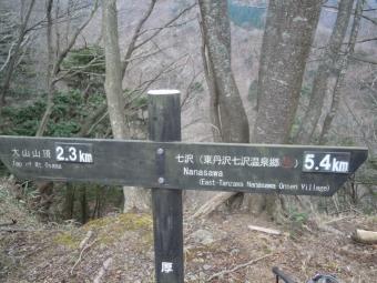 大山~不動尻の道唐沢峠付近201219